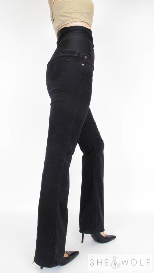 AG Corduroy Flare Maternity Jeans 28 x 33.5 - AG Corduroy Flare Maternity Jeans 28 X 33.5 — She & Wolf Maternity