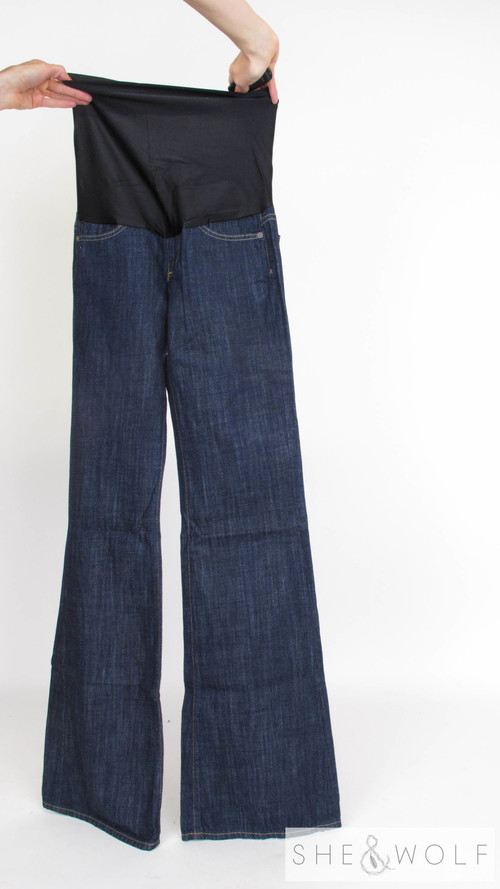 7bddcc831dcb2 AG Wide Leg Maternity Jeans 25 x 35 — She & Wolf