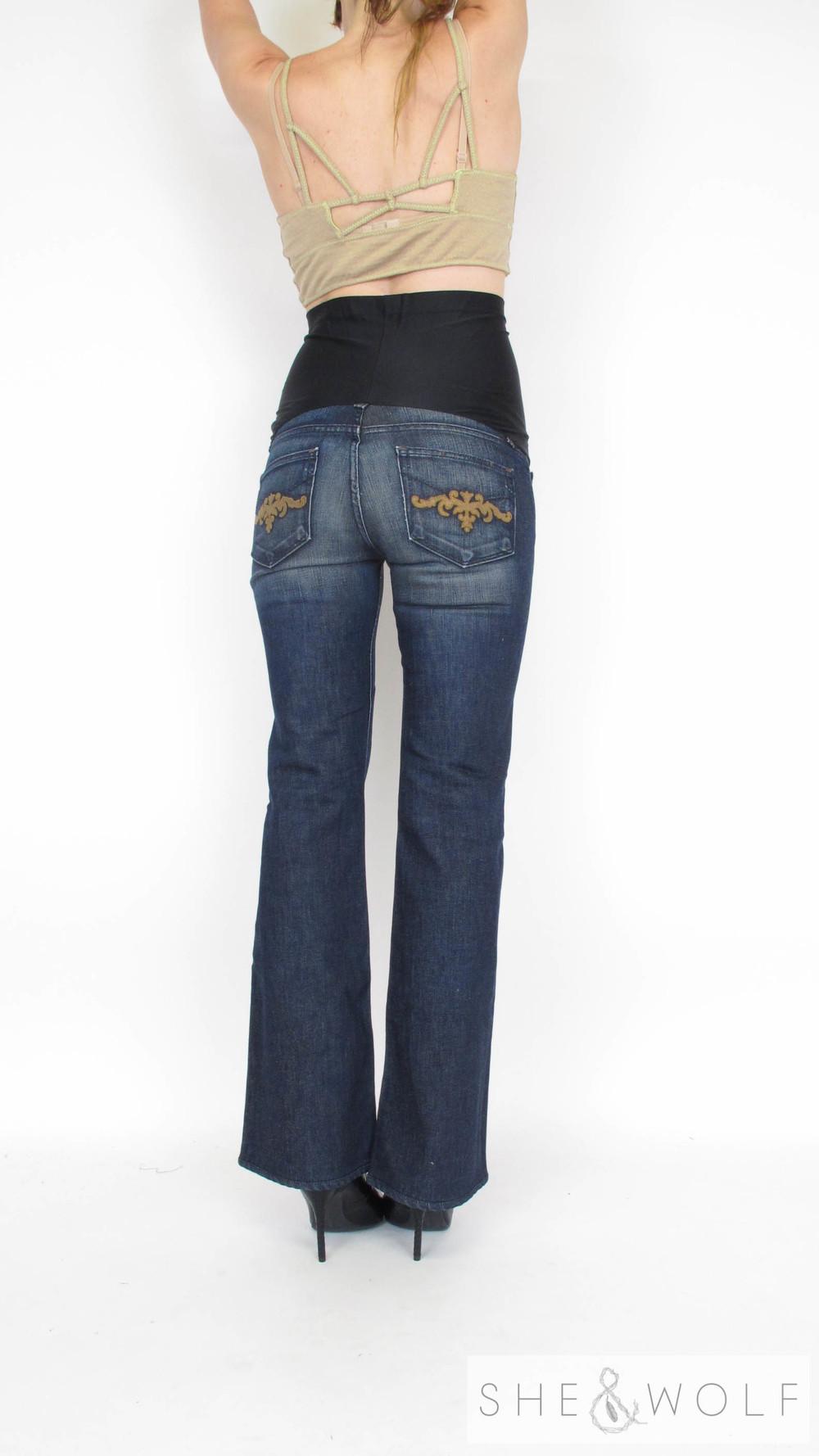 d361ce94e4417 Paige Premium Denim Bootcut Maternity Jeans 28 x 31 — She & Wolf