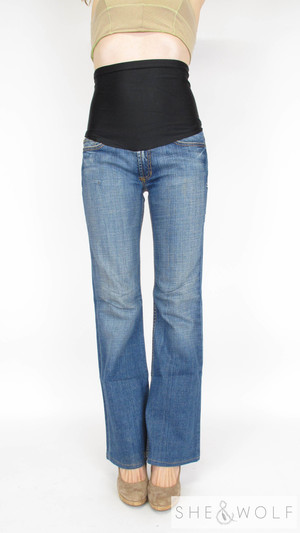 19f362629e0f8 Peoples Liberation Flare Maternity Jeans 28 x 32