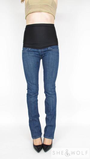 b3956a24048f4 Frankie B. Bootcut Maternity Jeans 26 x 32