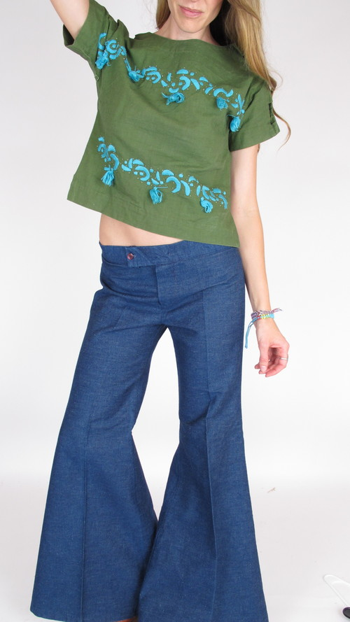Greatest Vintage Low Rise Super Bell Bottoms — She & Wolf ZW93