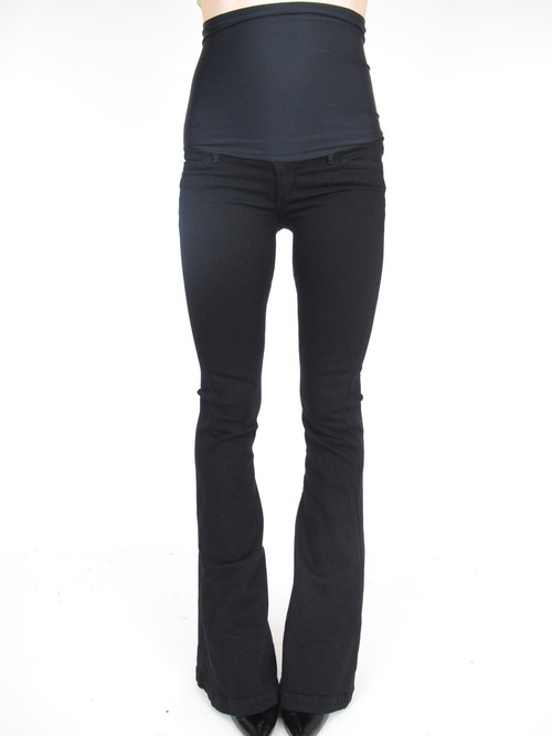 Goldsign Black Flare Maternity Jeans 25 x 35 — She & Wolf ...