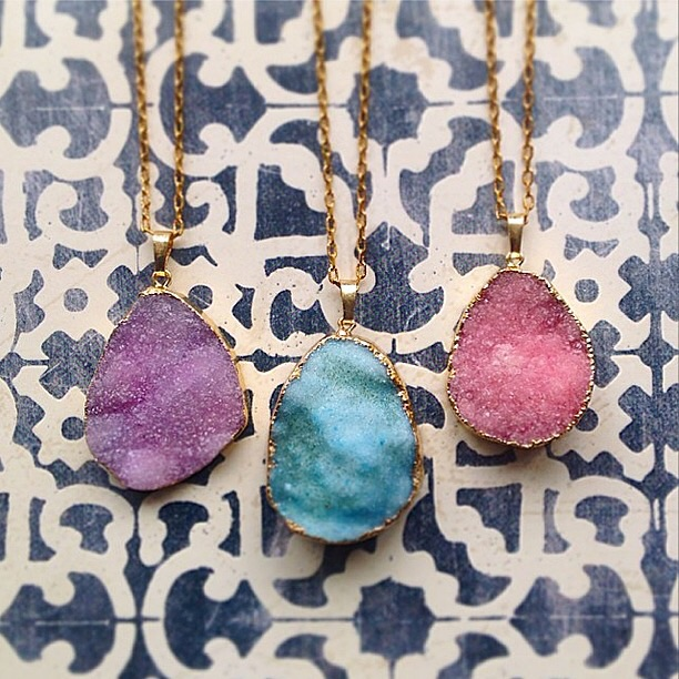 We'll be adding some new styles to the healing crystal collection