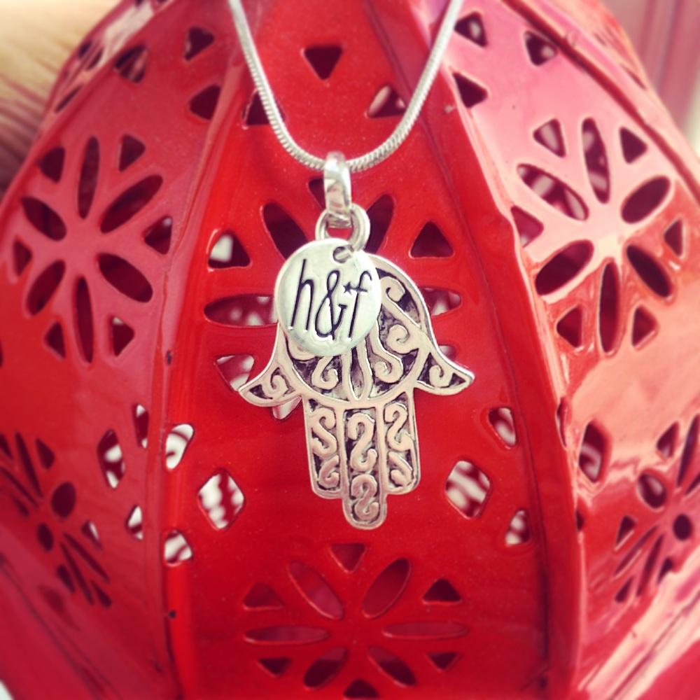925 Sterking Silver Hamsa Hand Pendant