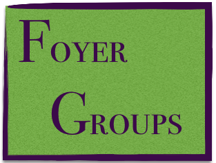 Foyers are not a study or prayer group and have no agenda other than spending time with one another, which is important for the building of Christian community. This provides time to be with one another so that friendships may grow.  All that is asked of you... bring your favorite appetizer or a finger food dessert to be enjoyed by all. The host provides the beverages, schedules the food to be brought,and the day & time to meet.  To sign up: call Fred Motz at 526-3083, or email him at bigbearpen@gmail.com