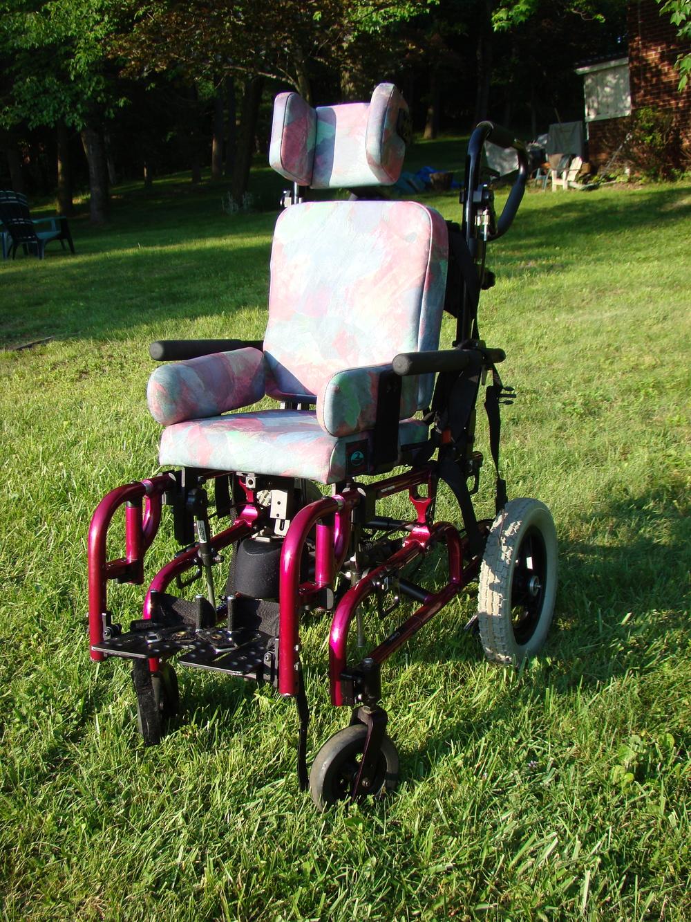 Hannah's wheelchair; now since donated...