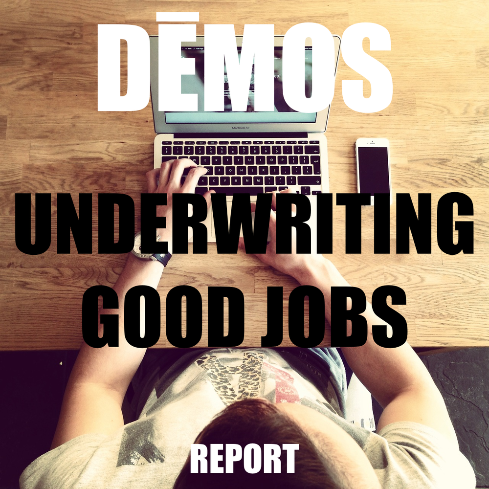 Underwriting Good Jobs: How to Place Over 20 Million Americans on a Pathway to the Middle Class Using Federal Purchasing Power. A new report by Dēmos.