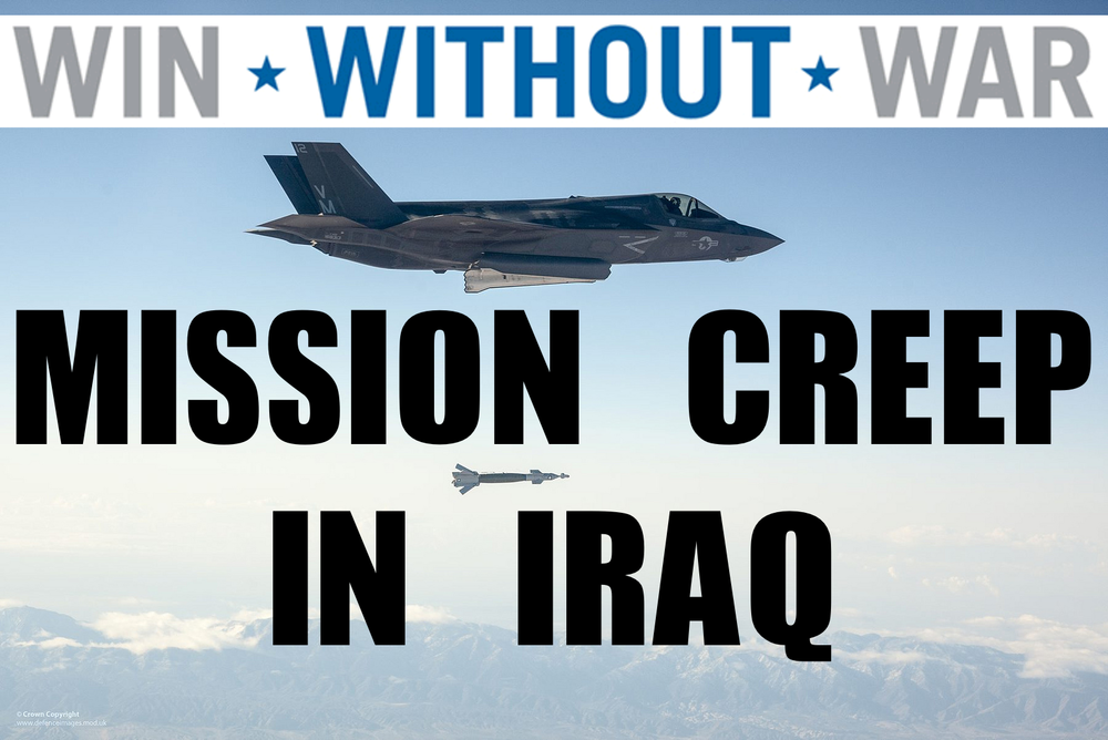 The United States has already authorized targeted airstrikes in Iraq against ISIS. Win Without War has an excellent rundown of events thus far and the potential for mission creep from these.