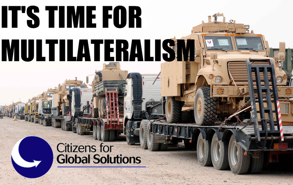 Image  Source .  Citizens for Global Solutions has posted their  official press release  regarding U.S. combat operations in Iraq and the need for multilateralism in order for a strategy to be effective.