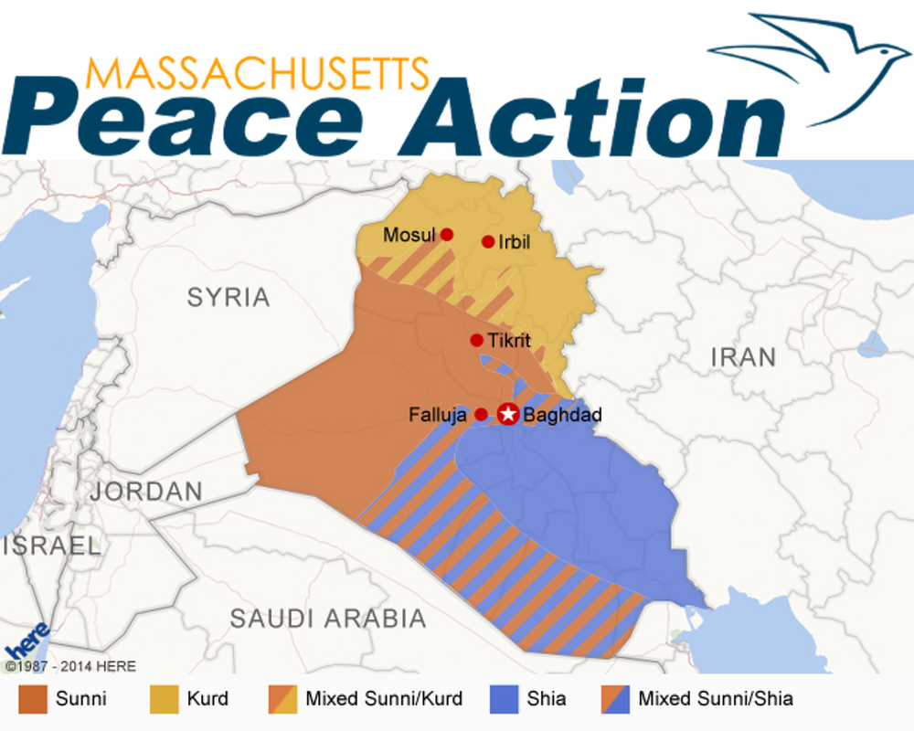 Massachusetts Peace Action  have taken a strong stance against any new conflict or engagement in the Middle East. Follow the link to see their petition calling for peace.