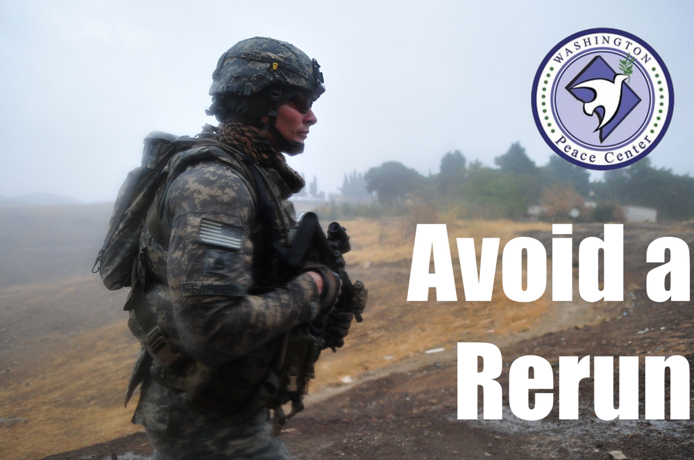 Image  Source .  The Washington Peace Center has  posted an excellent article  urging the U.S. to avoid the arguments and sentiments leading to the international War on Terror. Their warning is an important read during this time of conflict.