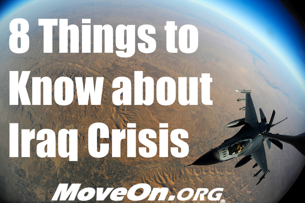 Image  Source .  MoveOn.org has an  excellent primer on the conflict in Iraq  that is a must read for understanding current affairs.