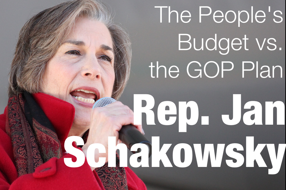 Rep. Jan Schakowsky and Larry Mishel recently published an op-ed comparing the highly damaging GOP plan to the progressive budget proposal, The People's Budget: A Raise for America. If you want to check out more on the People's Budget, be sure to check out, cpcbudget.org