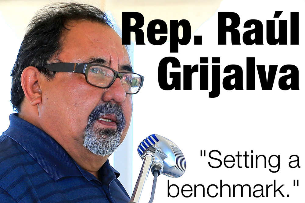 "Rep. Raúl Grijalva and Rep. Mark Pocan are standing up for the environment in the face of mining and fracking companies.  ""Setting a benchmark, nothing wrong with that. . . It's not about more regulation, it's about the carve-outs and the lack of capacity on the part of states to monitor, evaluate, control and prevent some of those things."""