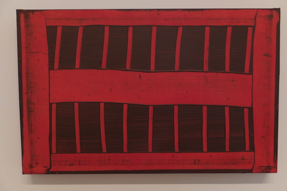 The first Vent (1972), acrylic and bronze powder on canvas
