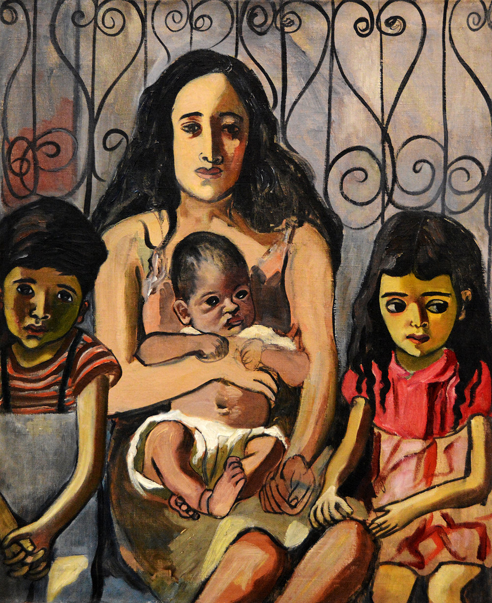 Alice Neel,  Spanish Family  (1943)