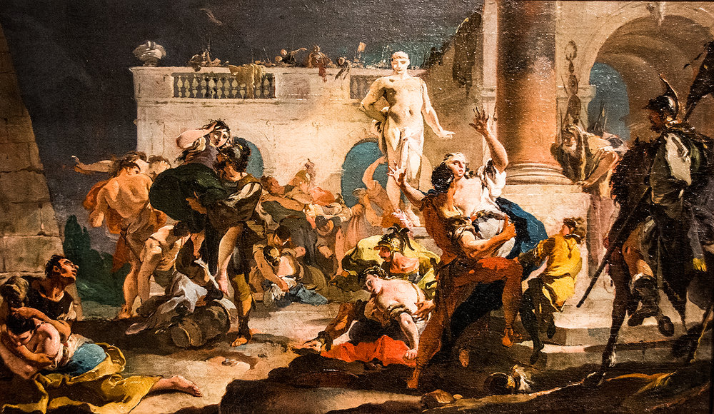 Giovanni Battista Tiepolo,  The Rape of the Sabine Women  (1718/19), Synebrichoffin Taidemuseo