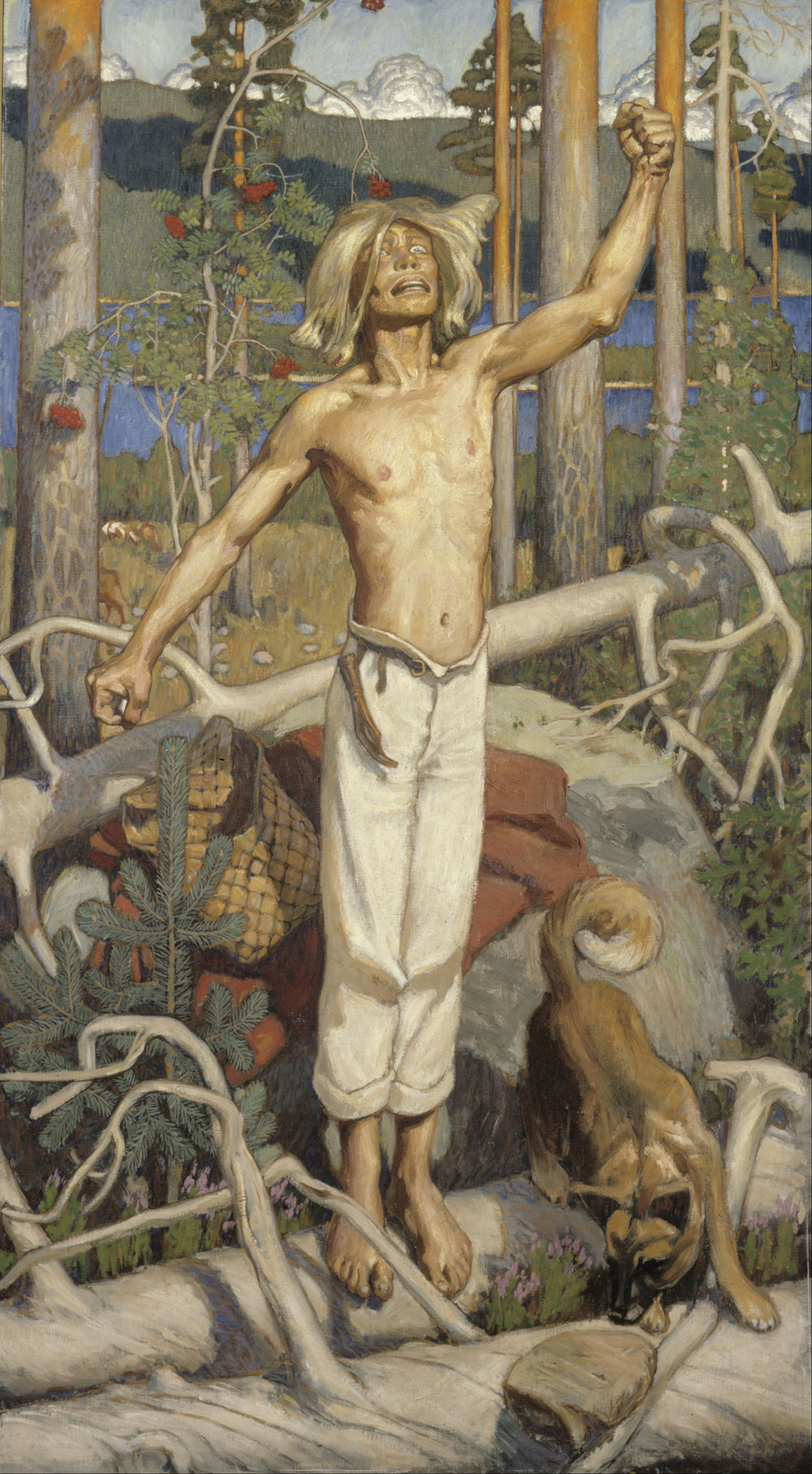Akseli Gallén-Kallela,  Kullervo Cursing  (1899), Ateneum