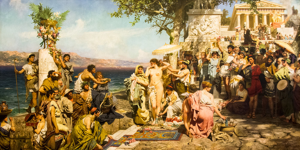 Henryk Siemiradzki, Phrine at the Festival of Poseidon at the Eleusinia (1889)