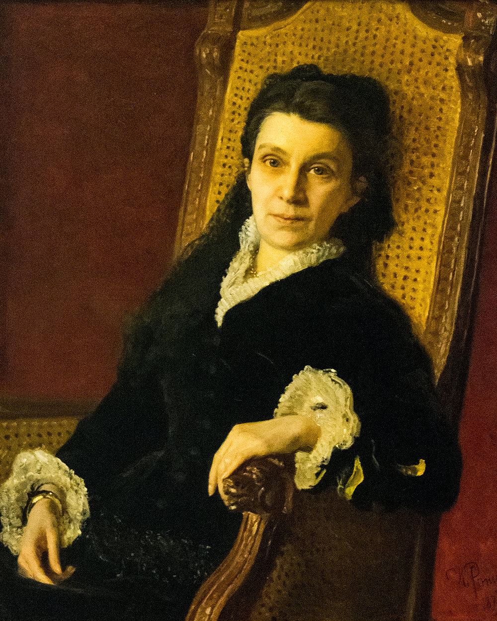 Ilya Repin, Portrait of Polixena Stasova (1879)