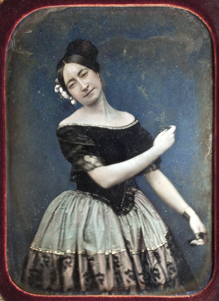 Spanish dancer, coloured daguerreotype, around 1850