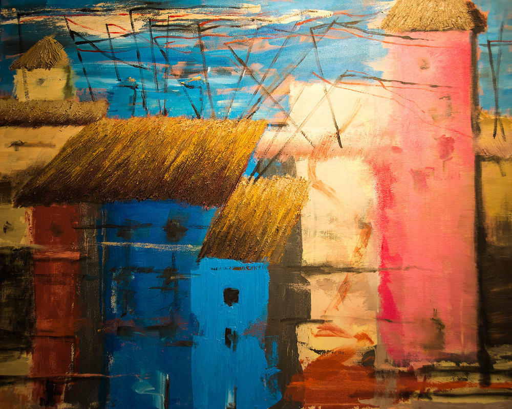 The Valencia series: The Old Town I, acrylic on canvas, 92x73 cm