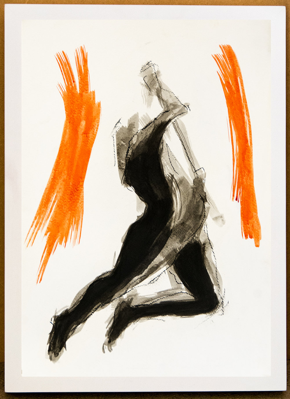 The Dance X, ink and charcoal on paper, 42x30 cm