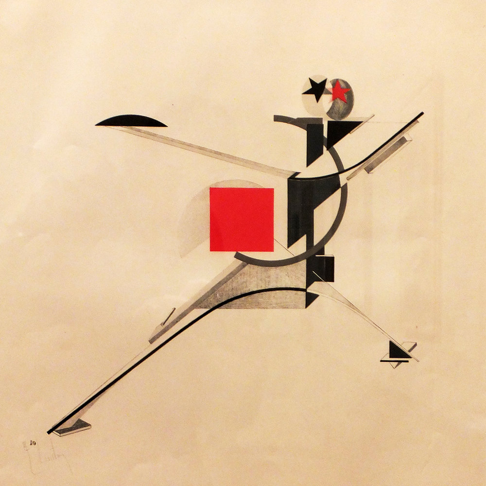 El Lissitzky, New Man, figurine for the electro-mechanical show Victory Over the Sun, 1923