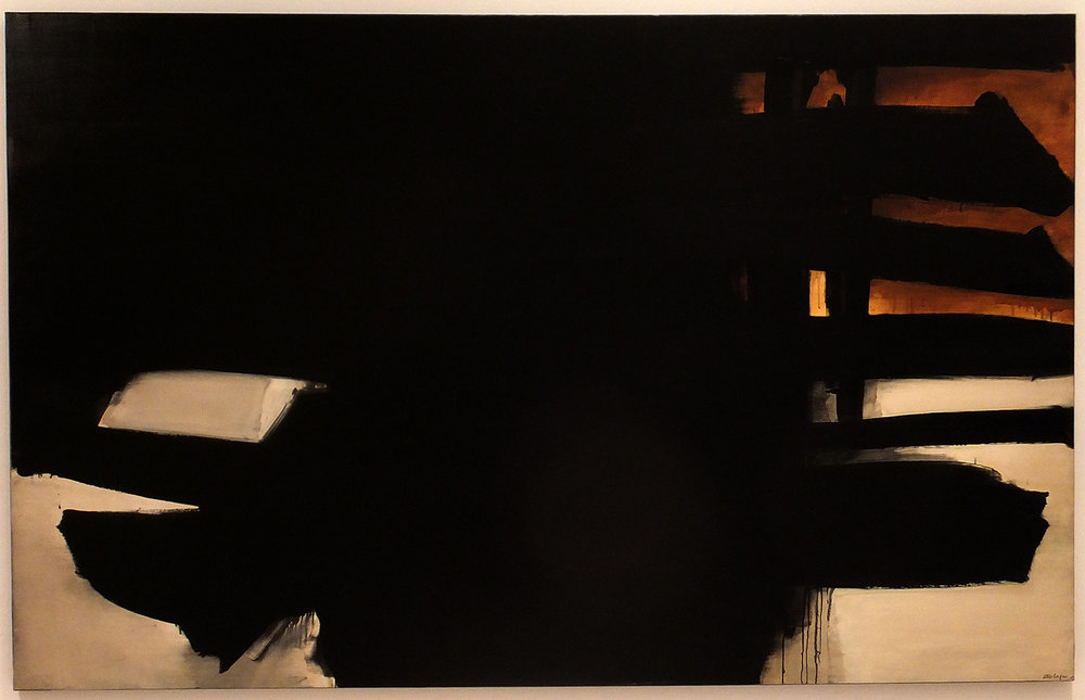 Pierre Soulages,  Peinture, 11 juillet 1965 , oil on canvas, 1965 (IVAM collection)