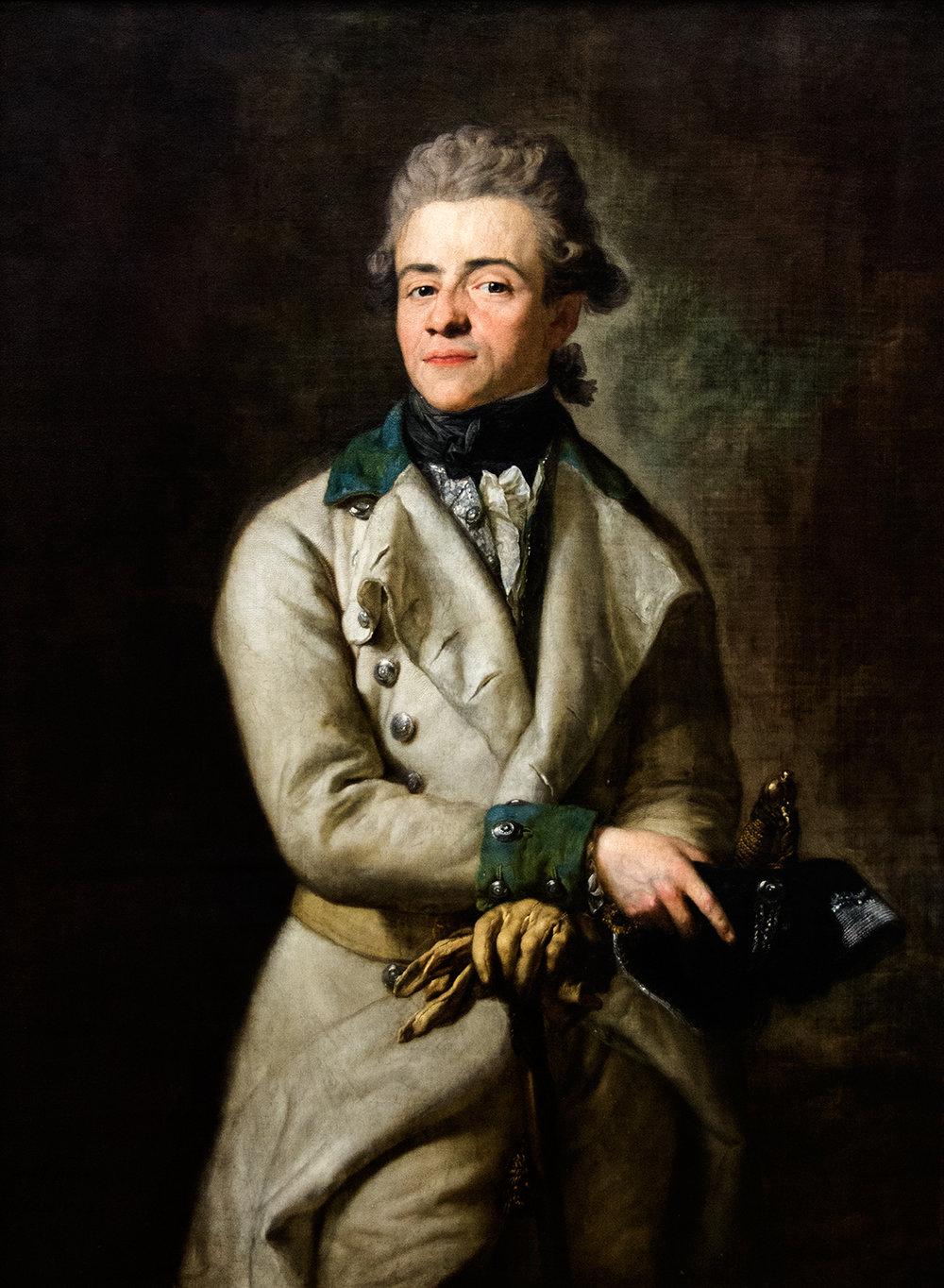 Anton Graff,  Heinrich XIII, Graf (Count) Reuss  (1775), Neue Pinakothek