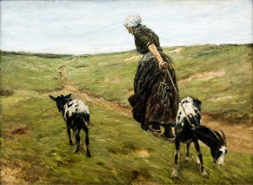Max Liebermann,  Woman with Goats in the Dunes  (1890), Neue Pinakothek