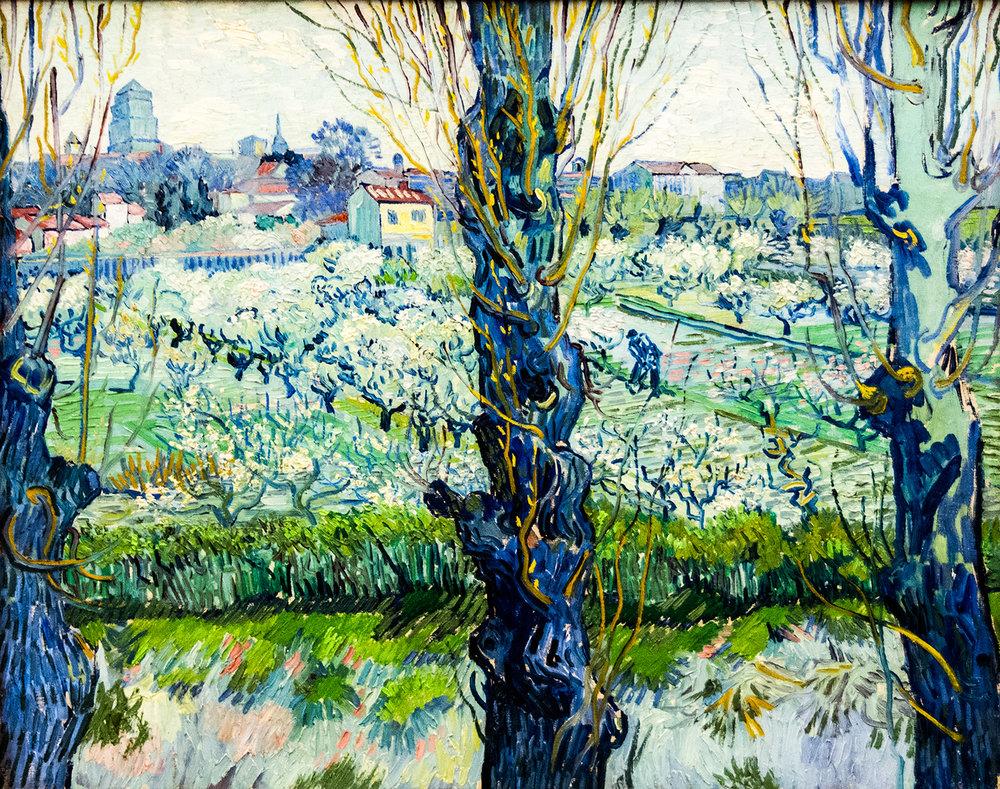Vincent Van Gogh,  View of Arles  (1889), Neue Pinakothek