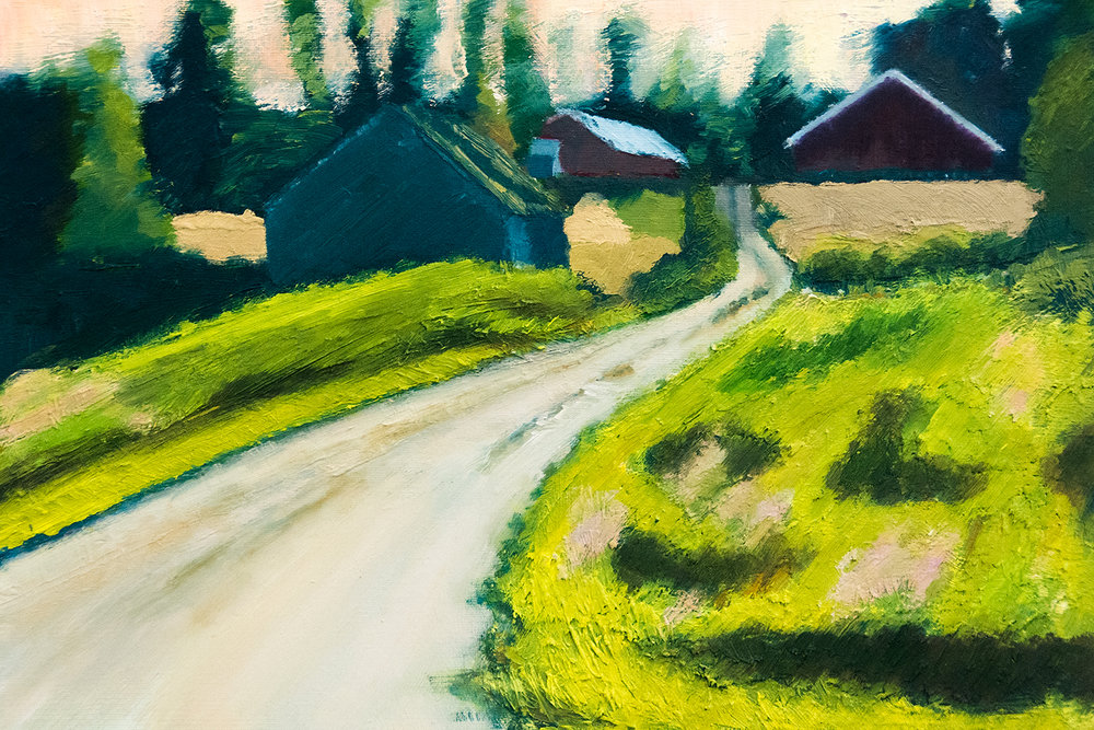 The Farm, Joutsa, Finland, oil on paper, 50x35cm