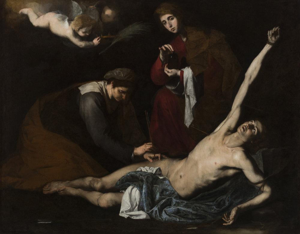 Ribera, St Sebastian tended by the Holy Women (1621), Bilbao Fine Art Museum