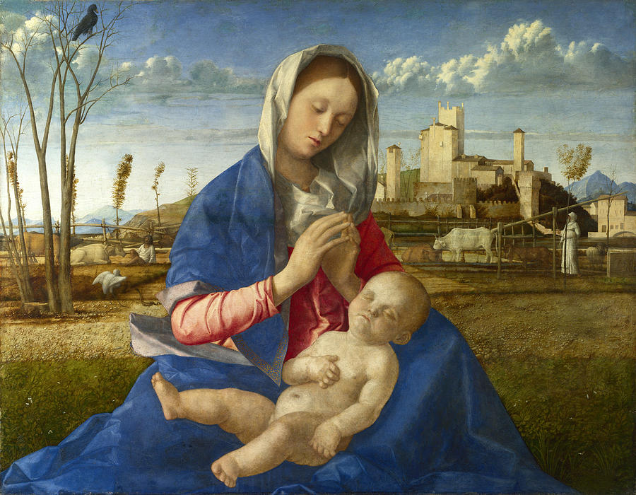 Giovanni Bellini, Madonna of the Meadow (c 1505), National Gallery, London
