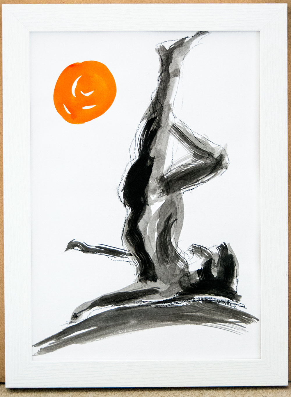 The Dance XIII, ink on watercolour paper, 42x30cm (2017) (private collection)