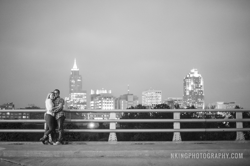 Downtown Raleigh Engagement Shoot Boylan Bridge