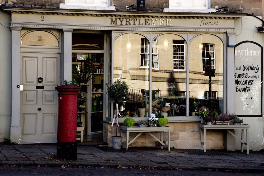 Myrtle Mee Florist, Bathwick Hill, Bath
