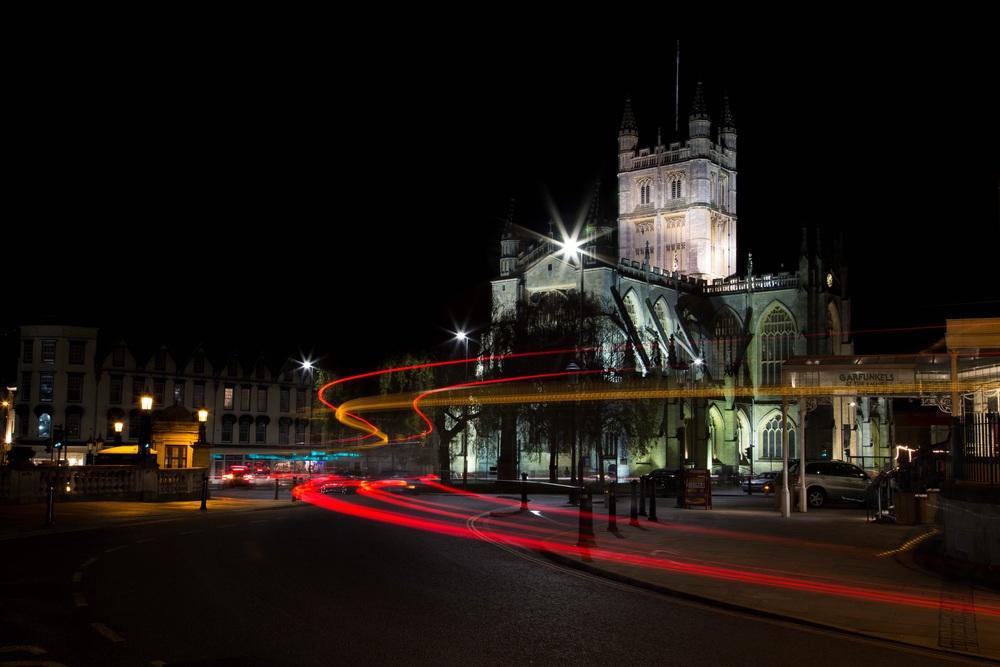 Bath Abbey at night, Bath