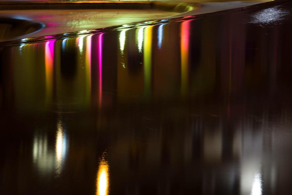 Bath Weir at night (detail), Bath