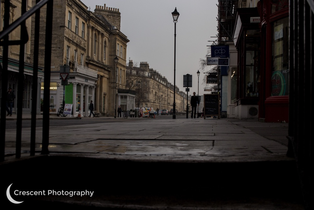 Eerie light on Pulteney Street during the eclipse