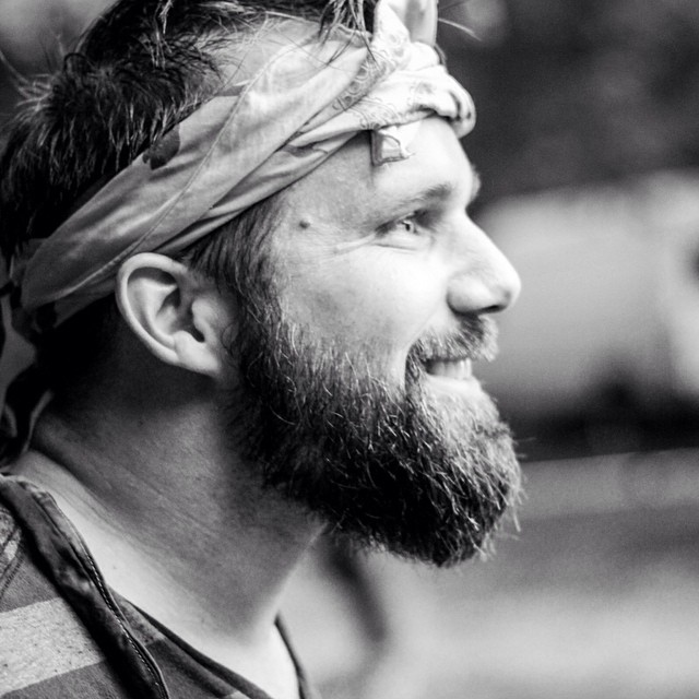 Wonder what caught @adamelo's eye? #wildgoosefestival2014 #menofthebeard #beardnation #beardstrong