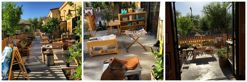 A Montessori outdoor environment is an extension of the indoor environment. The children move freely from inside to outside as desired. Work inside the classroom may be brought outside and vise versa.