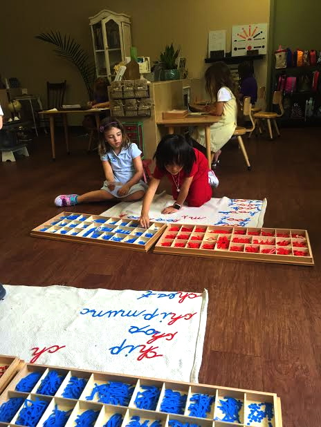 We love phonograms! Montessori's way of teaching spelling and total reading through movement and isolation specificity.