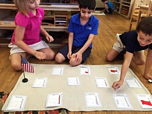Learning about parts of a flag