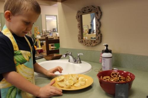 Preparing Snack