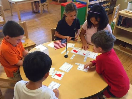 This group has been working a lot on Maps and Pins ( study of Continents, Countries and States). This interest peaked their curiosity to look into different types of flags and parts of a flag.