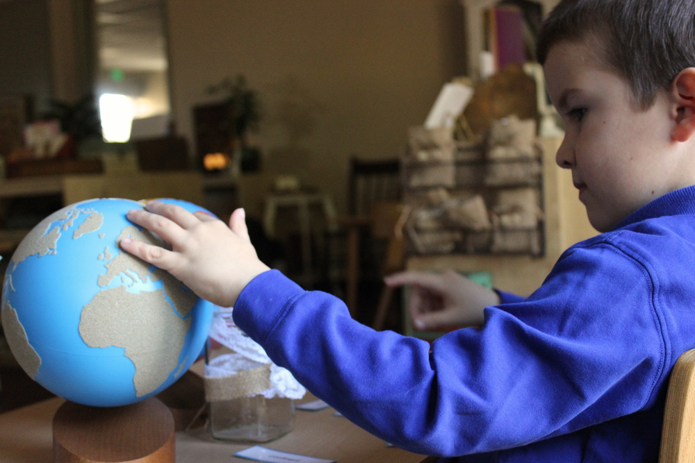 Comparing and labeling the Sandpaper and Painted Globe