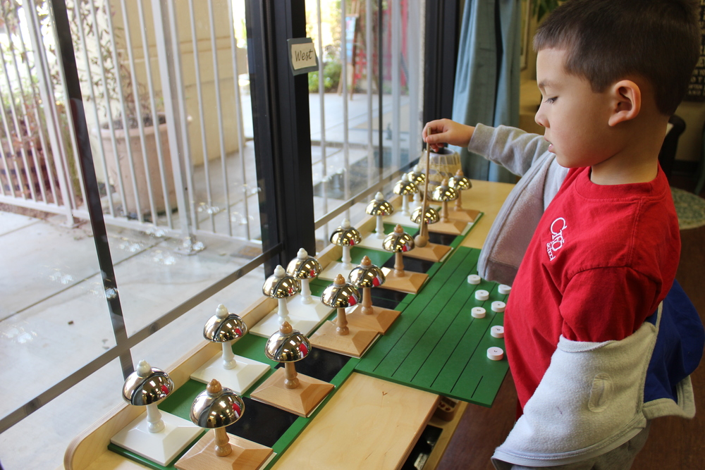 Composing Music and playing it on the Montessori Bells